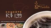 Café da manhã de celebridade com 88% de desconto de R$ 16,90 por R$ 1,99