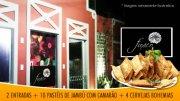 2 passaportes (entrada) + pastéis de Jambú c/camarão (10 unidades) + 4 Bohemias de R$54,00 por R$27,00